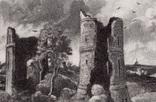 """Гравюра. Дж. Констебл - Лукас. """"Замок Хадли"""". До 1840 года. (42,8 на 29 см). Оригинал. фото 2"""