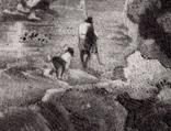 """Гравюра. Дж. Констебл - Лукас. """"Замок Хадли"""". До 1840 года. (42,8 на 29 см). Оригинал. фото 3"""