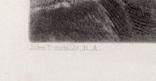"""Гравюра. Дж. Констебл - Лукас. """"Замок Хадли"""". До 1840 года. (42,8 на 29 см). Оригинал. фото 4"""
