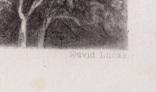 """Гравюра. Дж. Констебл - Лукас. """"Замок Хадли"""". До 1840 года. (42,8 на 29 см). Оригинал. фото 6"""