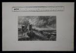 """Гравюра. Дж. Констебл - Лукас. """"Замок Хадли"""". До 1840 года. (42,8 на 29 см). Оригинал. фото 8"""