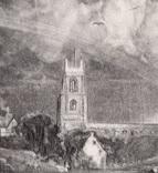 """Гравюра. Дж. Констебл - Лукас. """"Сток-бай-Нейленд"""". До 1840 года. (42,8 на 29 см). фото 2"""