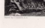 """Гравюра. Дж. Констебл - Лукас. """"Сток-бай-Нейленд"""". До 1840 года. (42,8 на 29 см). фото 4"""