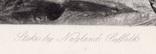 """Гравюра. Дж. Констебл - Лукас. """"Сток-бай-Нейленд"""". До 1840 года. (42,8 на 29 см). фото 5"""