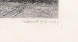 """Гравюра. Дж. Констебл - Лукас. """"Сток-бай-Нейленд"""". До 1840 года. (42,8 на 29 см). фото 6"""