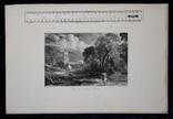 """Гравюра. Дж. Констебл - Лукас. """"Сток-бай-Нейленд"""". До 1840 года. (42,8 на 29 см). фото 8"""