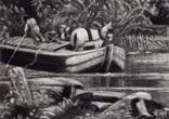 "Гравюра. Дж. Констебл - Лукас. ""Река Стаур"". До 1840 года. (42,8 на 29 см). Оригинал. фото 3"