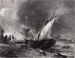 "Гравюра. Дж. Констебл - Лукас. ""Вид на Оруэлл"". До 1840 года. (42,8 на 29 см). Оригинал."