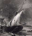 "Гравюра. Дж. Констебл - Лукас. ""Вид на Оруэлл"". До 1840 года. (42,8 на 29 см). Оригинал. фото 2"