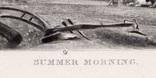 """Гравюра. Дж. Констебл - Лукас. """"Летнее утро"""". До 1840 года. (42,8 на 29 см). Оригинал. фото 5"""