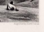 """Гравюра. Дж. Констебл - Лукас. """"Летнее утро"""". До 1840 года. (42,8 на 29 см). Оригинал. фото 6"""