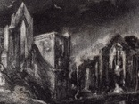 """Гравюра. Дж. Констебл - Лукас. """"Замок"""". До 1840 года. (42,8 на 29 см). Оригинал. фото 2"""