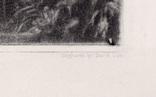 """Гравюра. Дж. Констебл - Лукас. """"Замок"""". До 1840 года. (42,8 на 29 см). Оригинал. фото 6"""