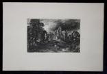 """Гравюра. Дж. Констебл - Лукас. """"Замок"""". До 1840 года. (42,8 на 29 см). Оригинал. фото 7"""