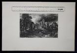 """Гравюра. Дж. Констебл - Лукас. """"Замок"""". До 1840 года. (42,8 на 29 см). Оригинал. фото 8"""