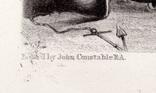 """Гравюра. Дж. Констебл - Лукас. """"Ярмут, Норфолк"""". До 1840 года. (42,8 на 29 см). Оригинал. фото 4"""