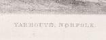 """Гравюра. Дж. Констебл - Лукас. """"Ярмут, Норфолк"""". До 1840 года. (42,8 на 29 см). Оригинал. фото 5"""