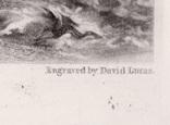 """Гравюра. Дж. Констебл - Лукас. """"Ярмут, Норфолк"""". До 1840 года. (42,8 на 29 см). Оригинал. фото 6"""