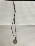 Винтажный кулон на шнурке маркирован VM/WB, фото №4