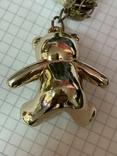 Винтажный браслет с кулоном в виде мишки, фото №5