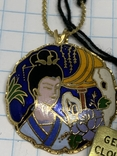Винтажный эмалевый кулон Клуазоне, фото №5