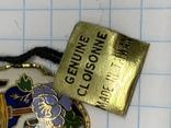 Винтажный эмалевый кулон Клуазоне, фото №6