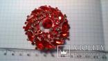 Брошка червона, фото №4