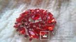 Брошка червона, фото №9