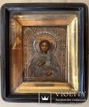 Икона Св. Пантелеимона, оклад серебро 84 пробы., фото №2