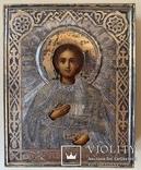 Икона Св. Пантелеимона, оклад серебро 84 пробы., фото №5