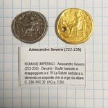 Ауреус и денарий Александра Севера., фото №3