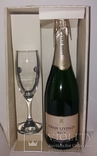 Вино игристое Cava Gran Livenza Brut набор с бокалом, Испания, фото №2
