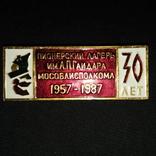 Знак Пионерия Пионерский лагерь имени А. П. Гайдара 1957-1987г. 30 лет Мособлисполкома, фото №2