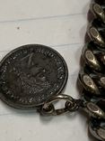 Винтажный металический браслет с тремя монетками, фото №3