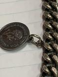 Винтажный металический браслет с тремя монетками, фото №4