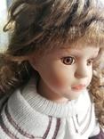 Кукла Высота 42 см, керамика на подставке, фото №5