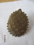 Брошь инкрустация перламутр с резным кораллом, фото №6