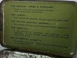 Винтажная зелёная жестяная коробочка с Англии, фото №4