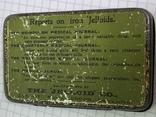 Винтажная зелёная жестяная коробочка с Англии, фото №5
