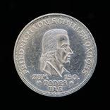 5 Марок 1955 F 150 лет со дня смерти Фридриха Шиллера, Германия ФРГ
