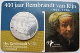 """Нидерланды, 5 серебряных евро 2006 """"400 лет Рембрандту"""", фото №2"""