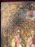 Икона Святых на золоте, фото №4