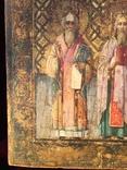 Икона Святых на золоте, фото №5