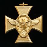 Крест За 25-Летнюю Выслугу в Полиции 1 класса, Третий Рейх UNC