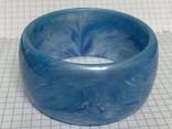 Винтажный жесткий браслет голубого цвета 60 грамм, фото №2