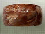 Винтажный жесткий браслет красного цвета 62 грамма, фото №4