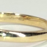 Золотое  колечко с синтетическим звездчатым рубином, фото №7