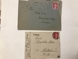Марки рейха на конверте и письме . 1942 и 1944 года, фото №2