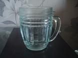 Пивной бокал,кружка БССР, 50-е года,толстое цв. стекло, фото №2