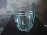 Пивной бокал,кружка БССР, 50-е года,толстое цв. стекло, фото №3